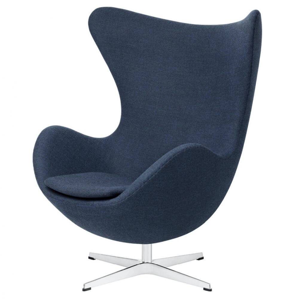 Fritz Hansen Egg Chair Blauw