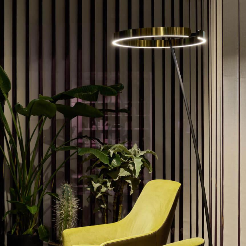 Occhio Mito Raggio Floor Lamp Black Bronze C