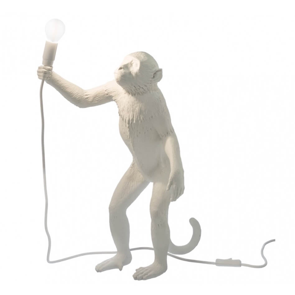 Tafellamp Monkey Staand Wit11456L