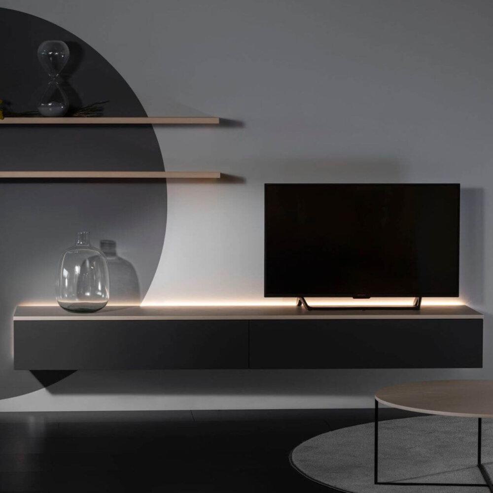 218 50 Tv Detail 1Zwart Met Licht