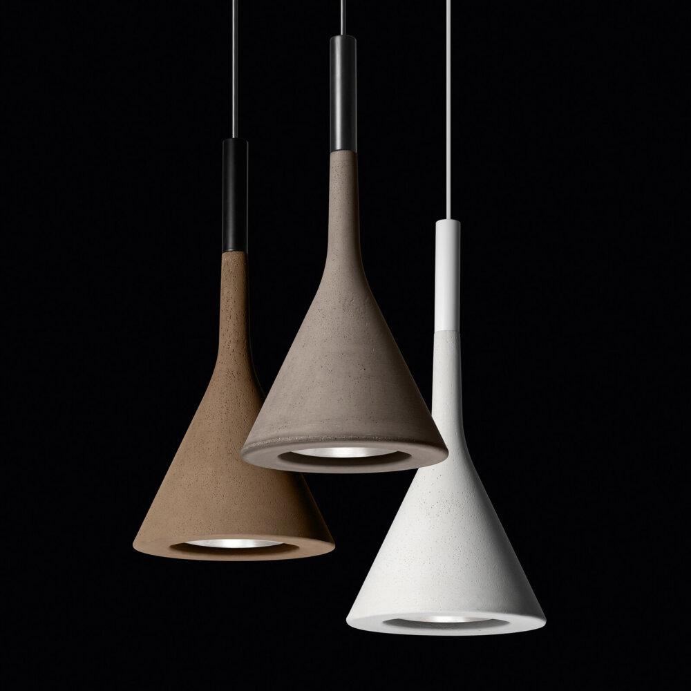 Foscarini Aplomb Mini Hanglamp Van Beton Bruin