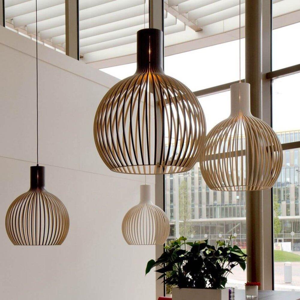 Secto Design Octo 4240 Hanglamp Zwart Berkenhout E00015567 5