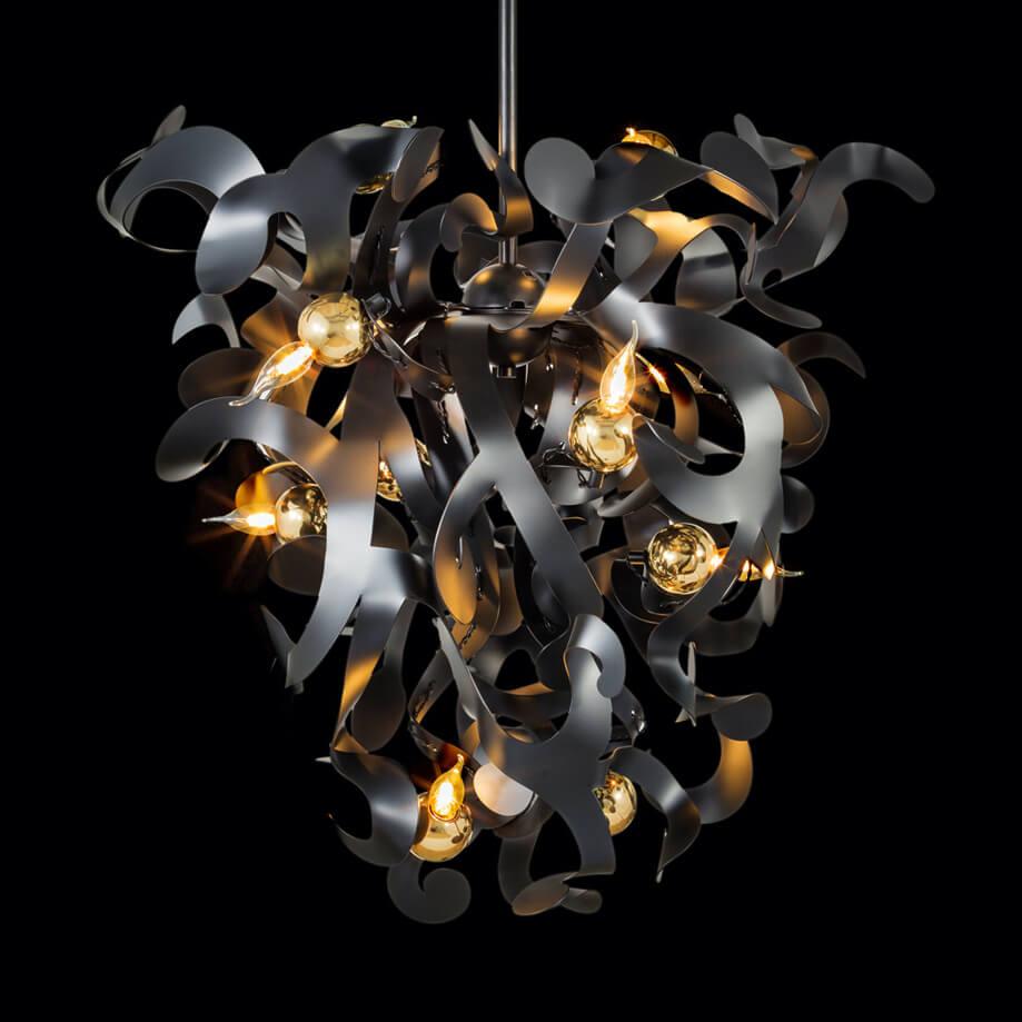 110 Modern Chandeliers Contemporary Lighting Kelp Collection Kelpcc80Blm Brandvanegmond