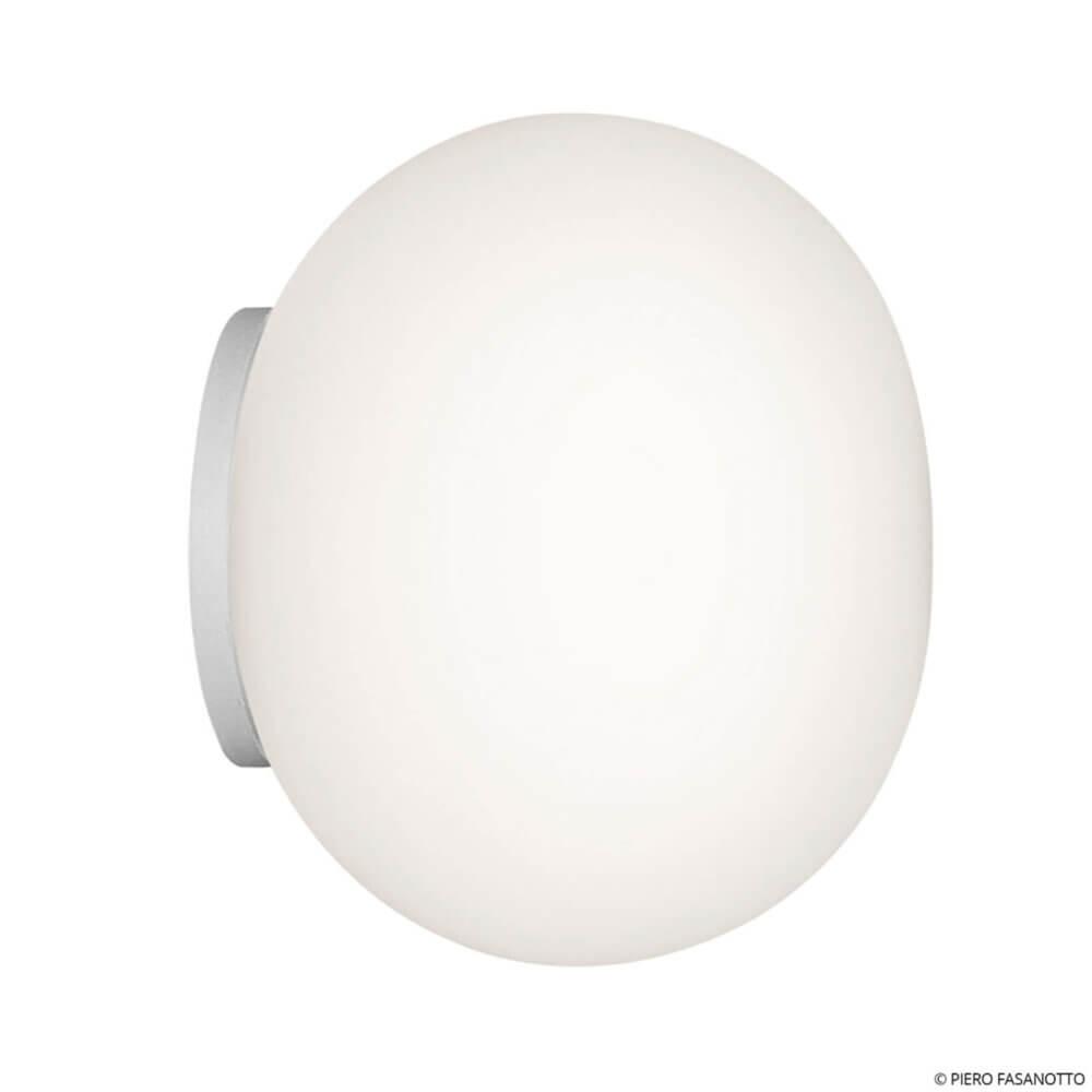 Flos Mini Glo Ball Mirror Wandlamp Wit