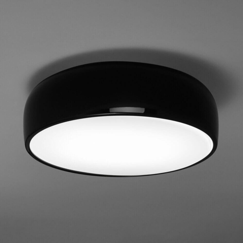 Flos Smithfield C Plafondlamp Zwart Glanzend E27